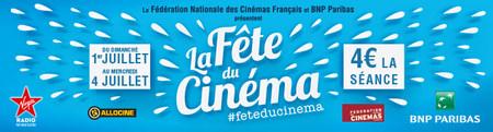 La Fête du Cinéma du dimanche 1er juillet au mercredi 04 juillet 2018