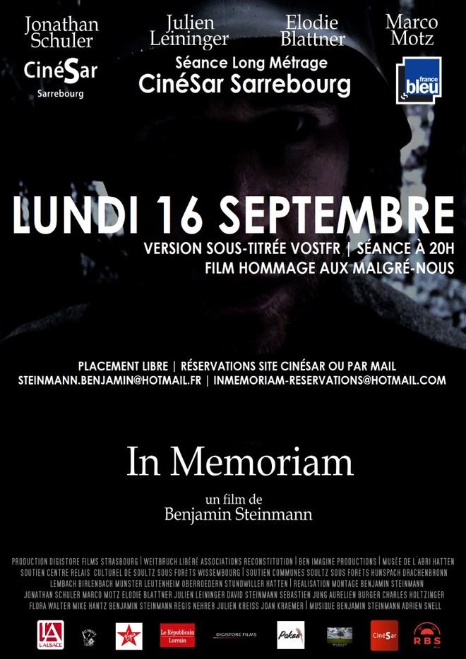 """Séance Unique du film """"In Mémoriam"""""""